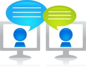 Icona chat. Consulenza psicologica anche via chat.