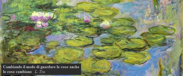 Ninfee, quadro di Monet presso lo studio di Vicenza della psicoterapeuta dott.ssa Daniela Ruggiero.