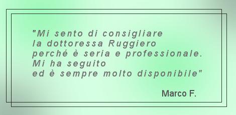 Commento di un paziente della Dott.ssa Daniela Ruggiero